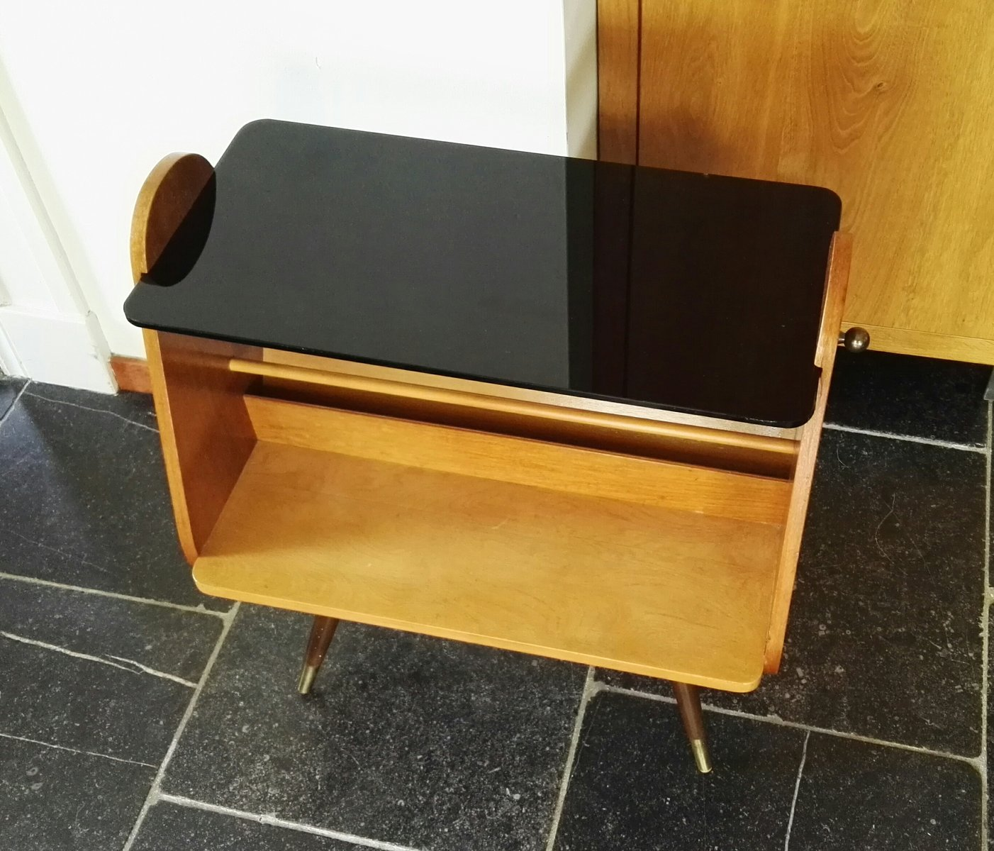 German Side Table With Magazine Rack By Ilse Möbel