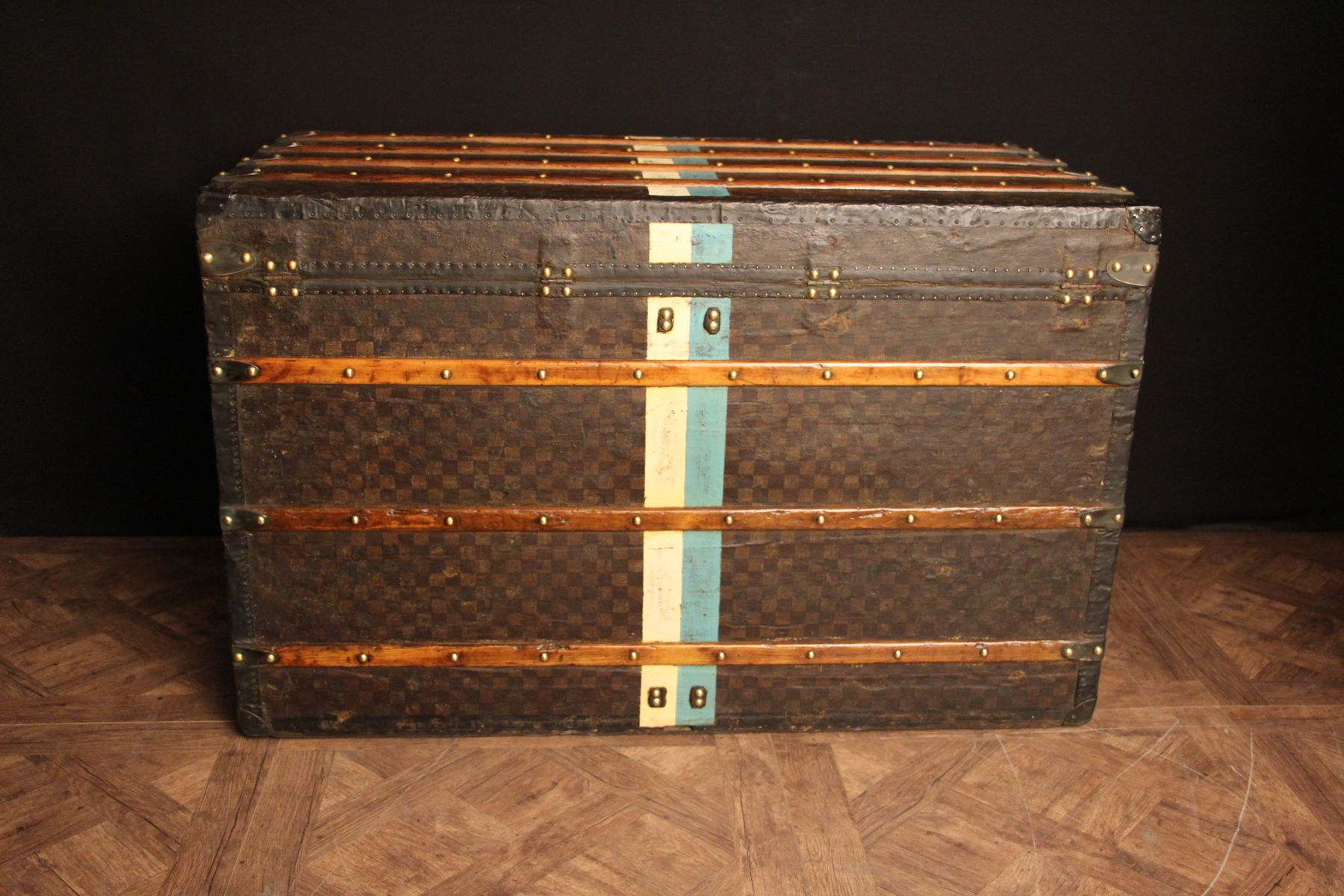 Steamer Trunk Furniture French Checkered Monogram Steamer Trunk From Louis Vuitton For