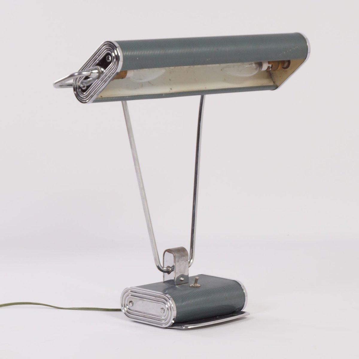 art deco desk lamp by eileen gray for jumo 1930s for sale. Black Bedroom Furniture Sets. Home Design Ideas