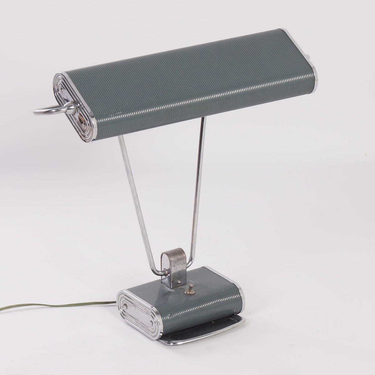 lampe de bureau art d co par eileen gray pour jumbo 1930s en vente sur pamono. Black Bedroom Furniture Sets. Home Design Ideas
