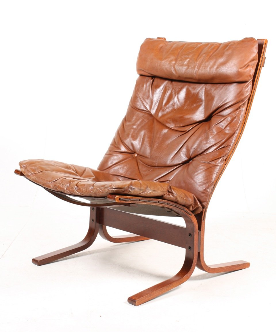 norwegian siesta bentwood and tan leather lounge chairs by ingmar  - norwegian siesta bentwood and tan leather lounge chairs by ingmar rellingfor westnofa s set of