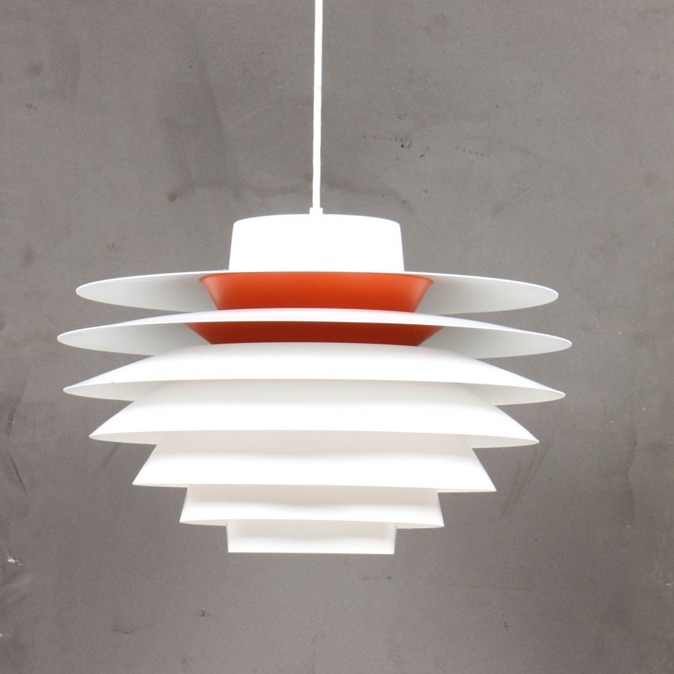 Mid century danish verona ceiling lamp by svend middelboe for Mid century ceiling lamp