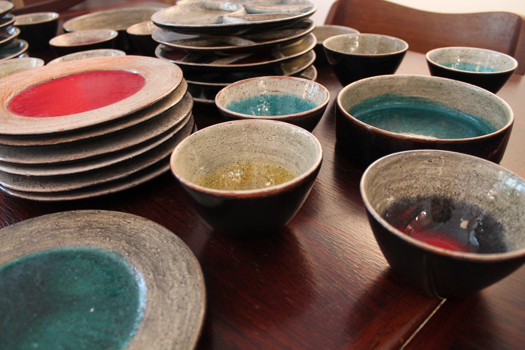 schweizer keramik set von hugo kohler bei pamono kaufen. Black Bedroom Furniture Sets. Home Design Ideas