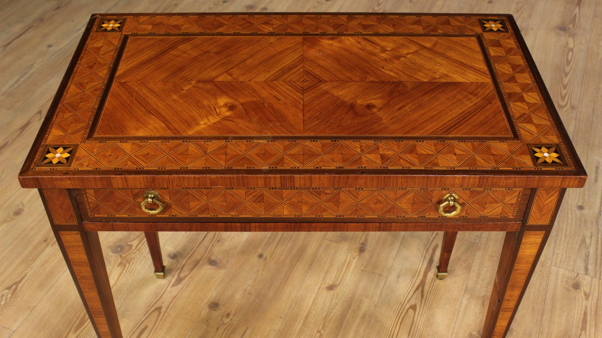 Wood Inlay Top Table Designs : Italian low table with wood inlay s for sale at pamono