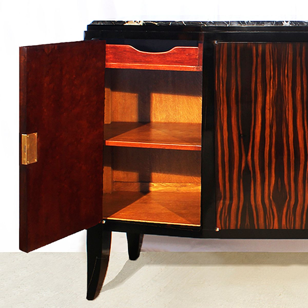 French art deco sideboard with four doors 1920s for sale - Deko sideboard ...