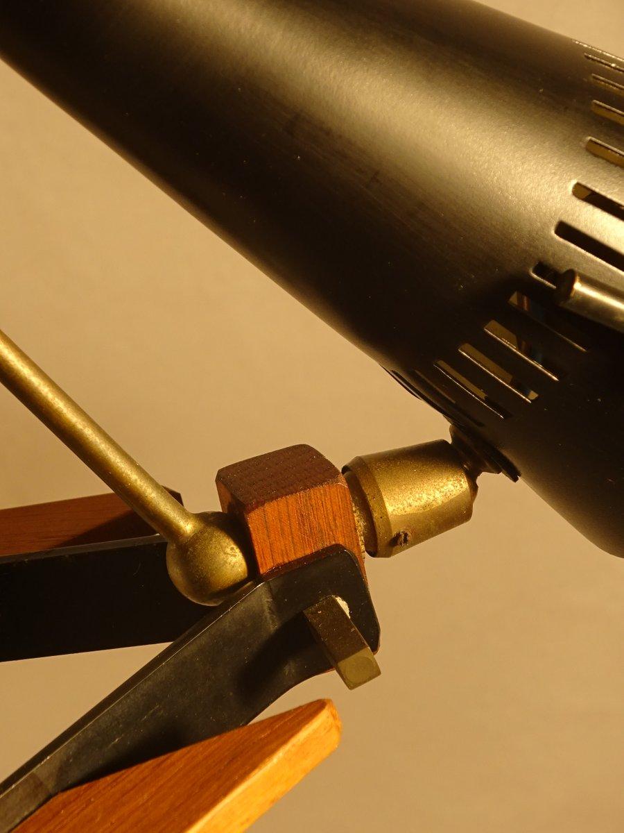Black scaffold chandelier by angelo lelli for arredoluce for Arredo luce