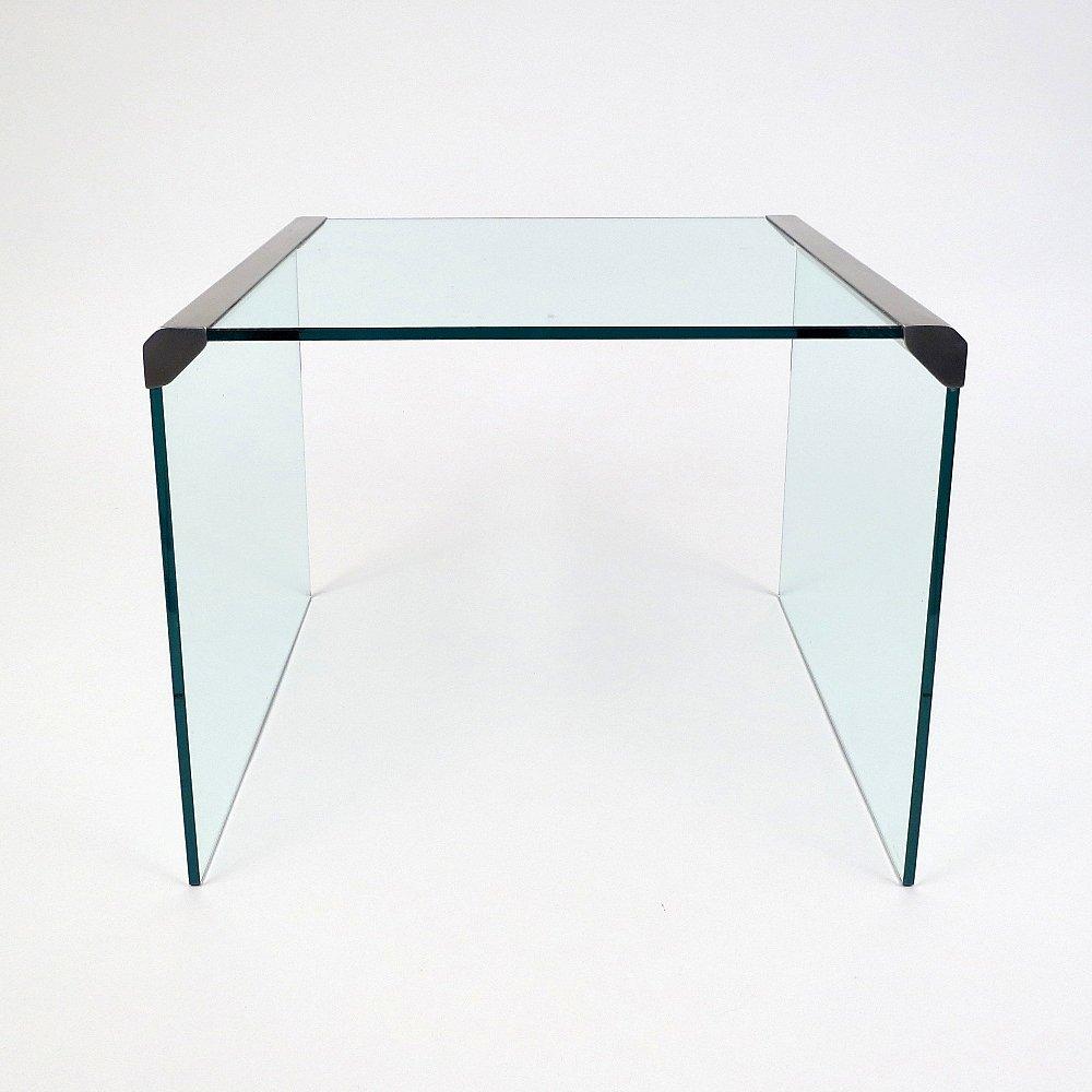 stahl glas beistelltisch von gallotti radice 1970er. Black Bedroom Furniture Sets. Home Design Ideas