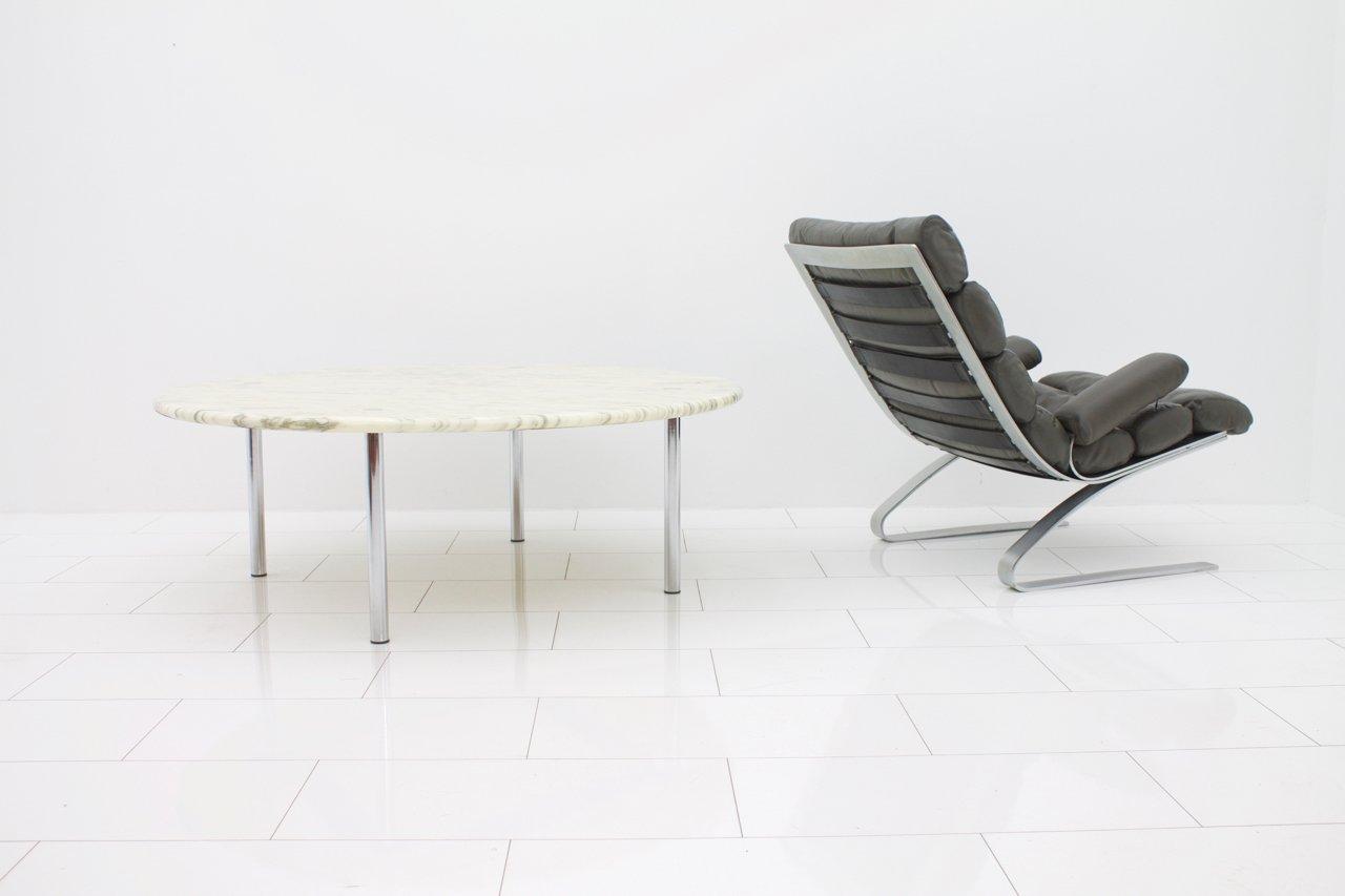 carrara marmor beistelltisch von erwine estelle laverne f r laverne international 1960er bei. Black Bedroom Furniture Sets. Home Design Ideas