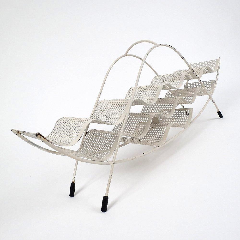 bemaltes mid century flaschenregal aus metall bei pamono. Black Bedroom Furniture Sets. Home Design Ideas