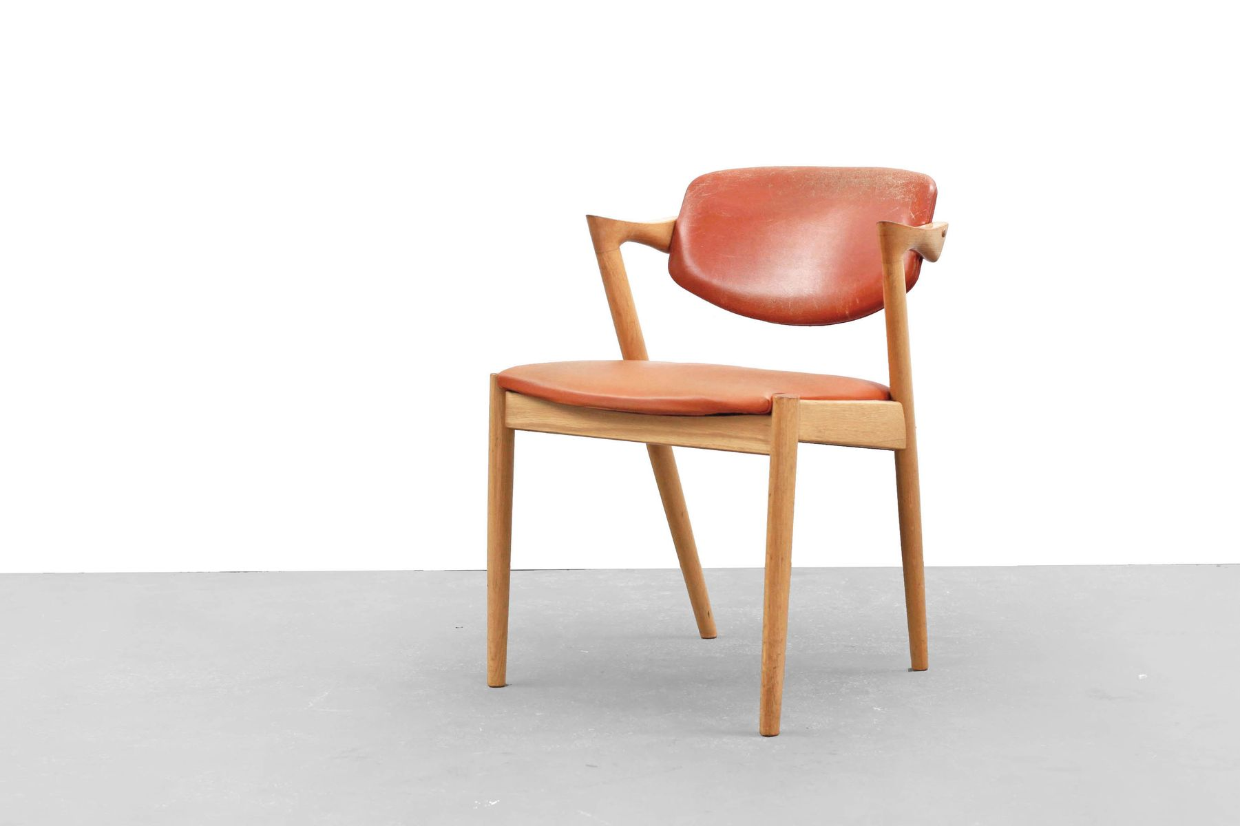 Danish modern oak chair no 42 by kai kristiansen for schou andersen 1960s for sale at pamono - Kai kristiansen chair ...