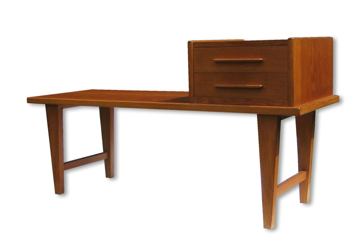 banc d 39 entr e en ch ne avec miroir danemark 1960s en vente sur pamono. Black Bedroom Furniture Sets. Home Design Ideas