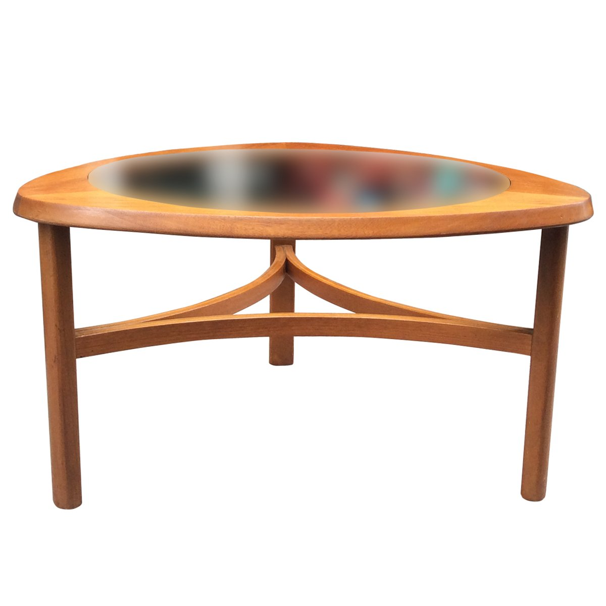 Teak Coloured Coffee Table: English Teak & Glass Coffee Table From Nathan, 1960s For