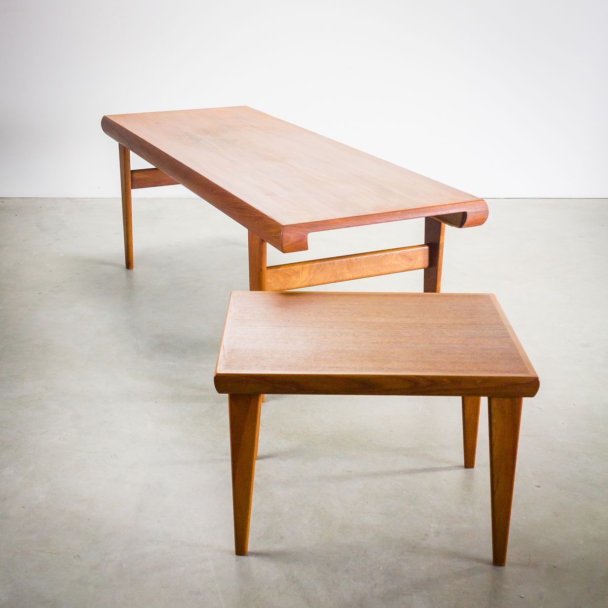 Scandinavian Teak Coffee Table: Danish Teak Coffee Table With Hidden Side Table From Trioh