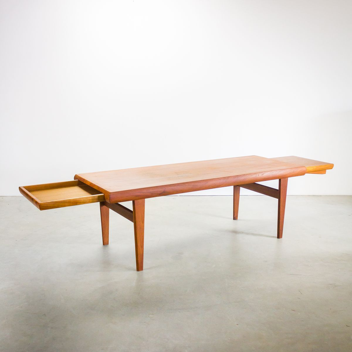 Danish Teak Coffee Table With Hidden Side Table From Trioh 1970s For Sale At Pamono