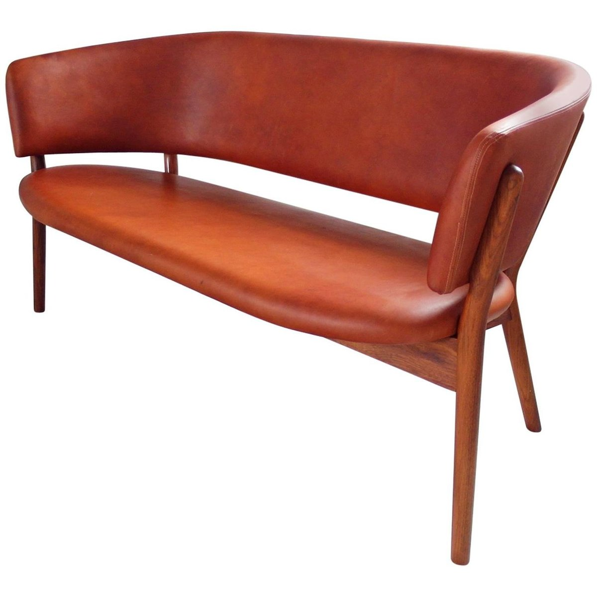 mid century nd82 shell sofa by nanna ditzel for snedkergaarden for sale at pamono. Black Bedroom Furniture Sets. Home Design Ideas