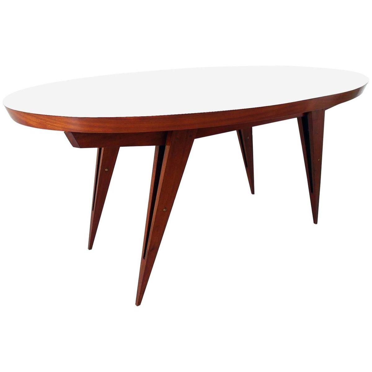 Italienischer ovaler mahagoni esstisch 1960er bei pamono for Esstisch italienischer stil