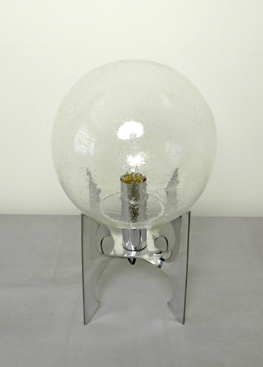 german apollo table lamp with glass globe 1970s for sale at pamono. Black Bedroom Furniture Sets. Home Design Ideas