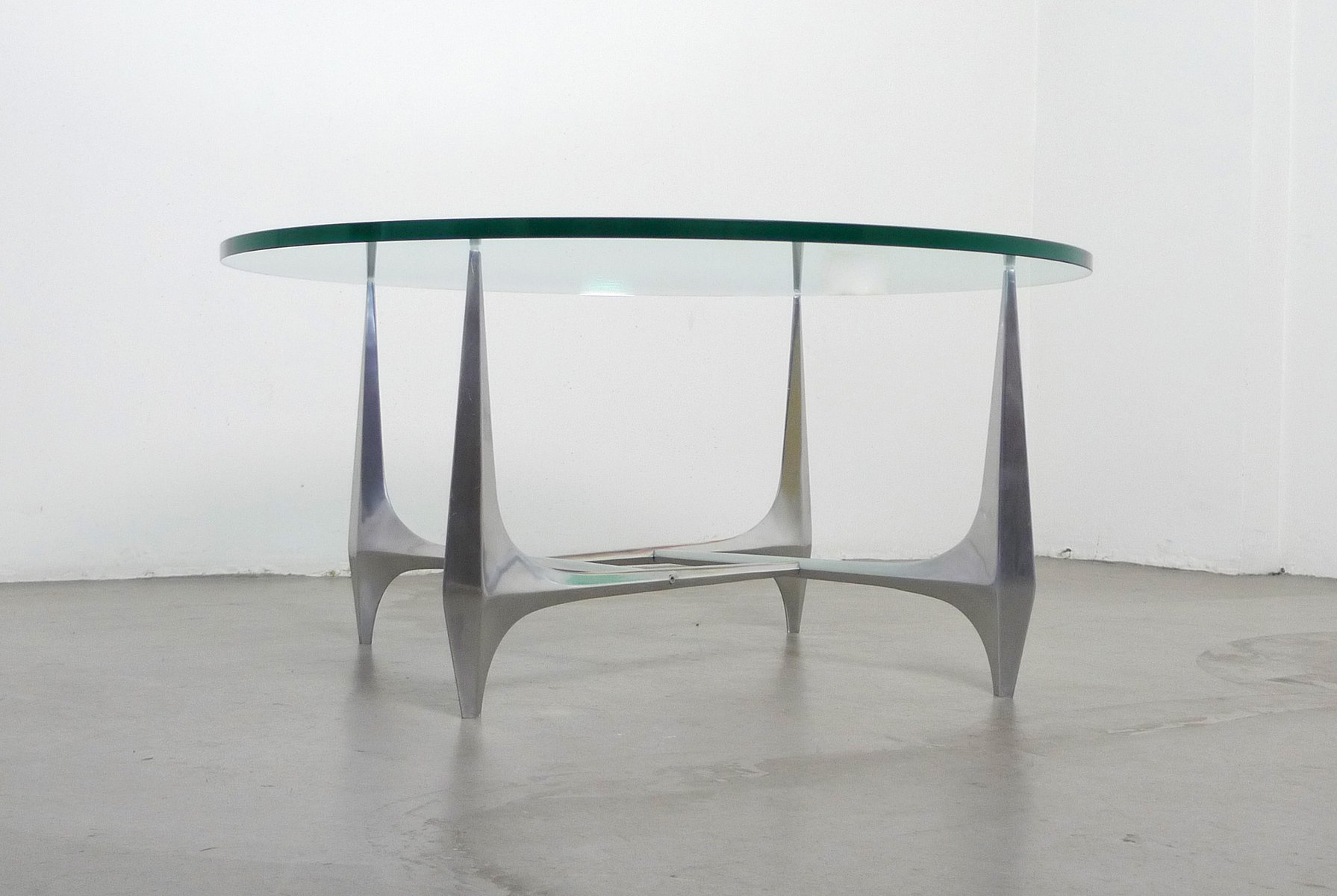 german sculptural coffee table by knut hesterberg for ronald