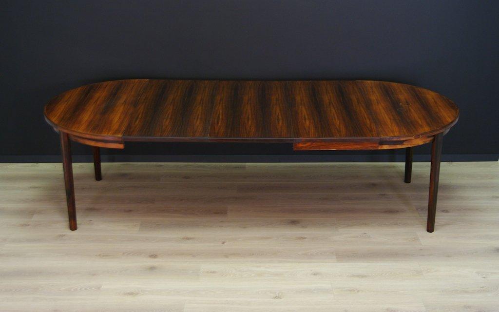 table ronde de salle manger extensible en palissandre danemark 1960s en vente sur pamono. Black Bedroom Furniture Sets. Home Design Ideas