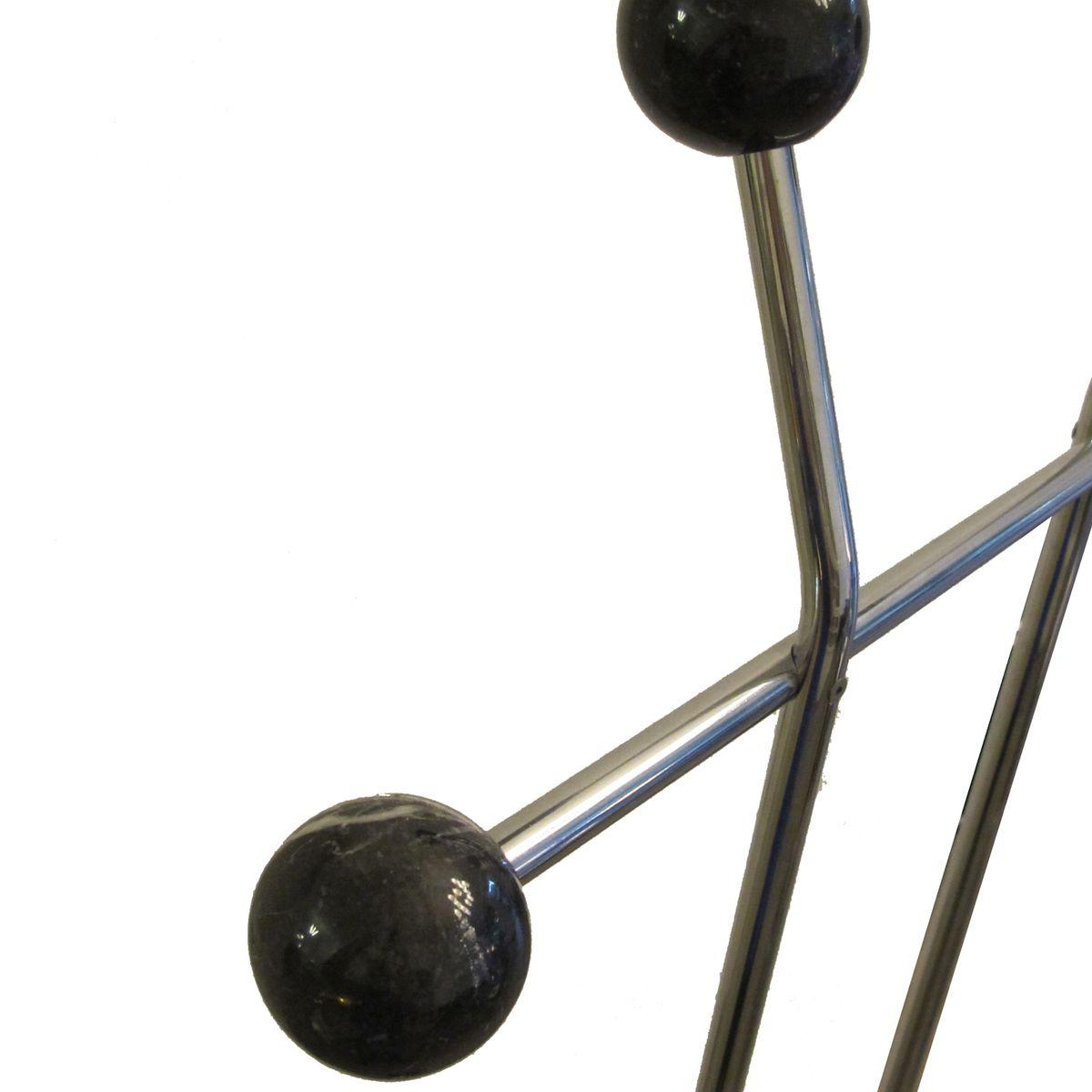 schwarzer marmor vintage garderobenst nder bei pamono kaufen. Black Bedroom Furniture Sets. Home Design Ideas