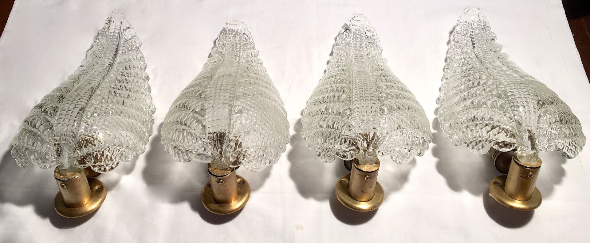 Large Italian Leaf-Shaped Wall Light from Barovier e Toso for sale ...