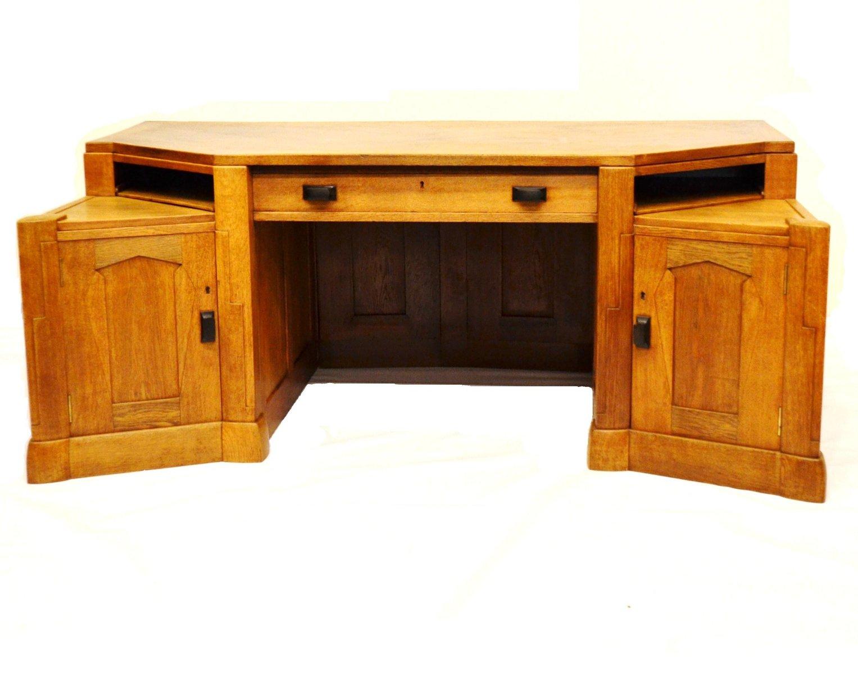 gro er niederl ndischer art deco schreibtisch 1920er bei. Black Bedroom Furniture Sets. Home Design Ideas