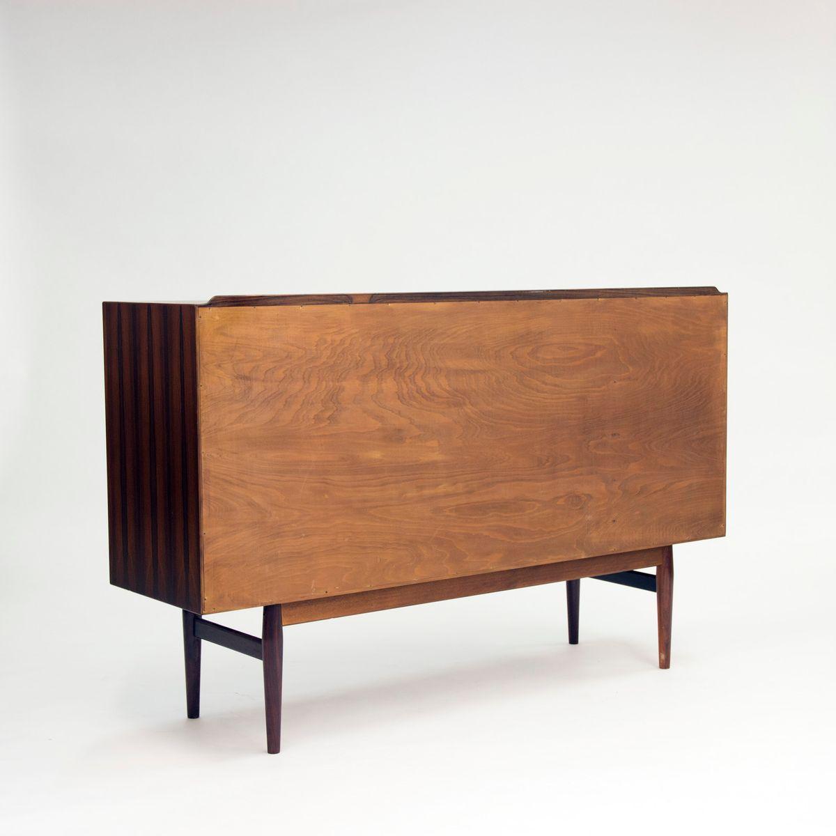 palisander sideboard mit schiebet ren und schubladen von arne vodder 1950er bei pamono kaufen. Black Bedroom Furniture Sets. Home Design Ideas