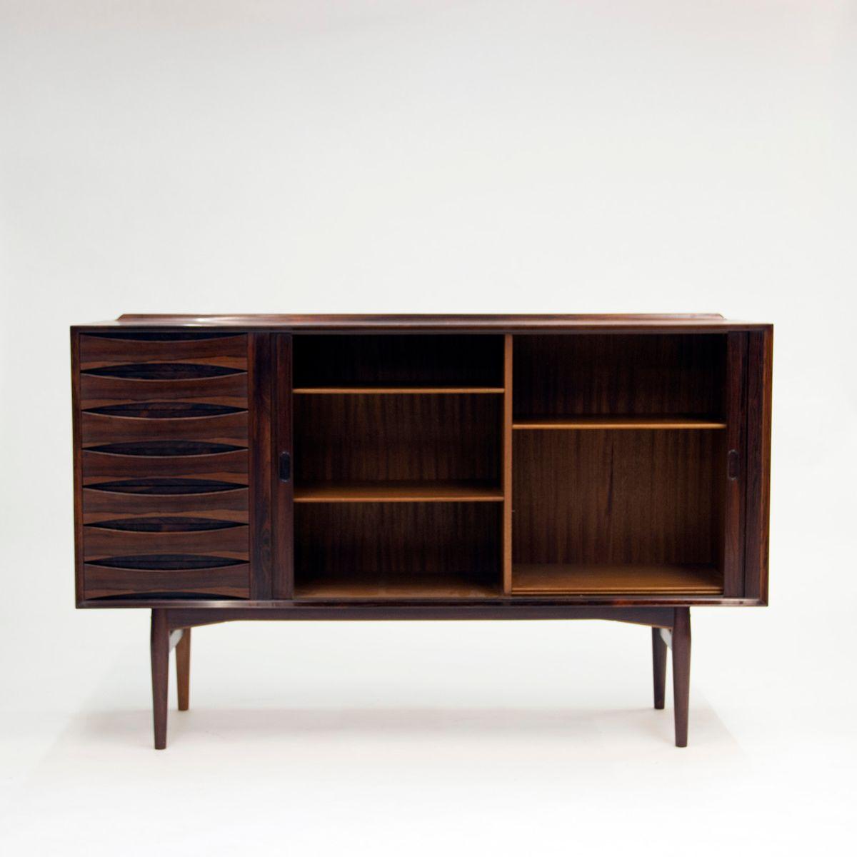 palisander sideboard mit schiebet ren und schubladen von. Black Bedroom Furniture Sets. Home Design Ideas