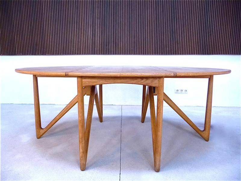 Mid Century Oak Drop Leaf Dining Table By Kurt Ostervig For Jason Mobler