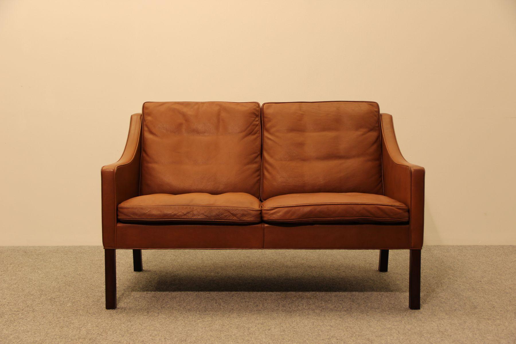 bm 2208 zwei sitzer sofa von borge mogensen f r fredericia 1975 bei pamono kaufen. Black Bedroom Furniture Sets. Home Design Ideas