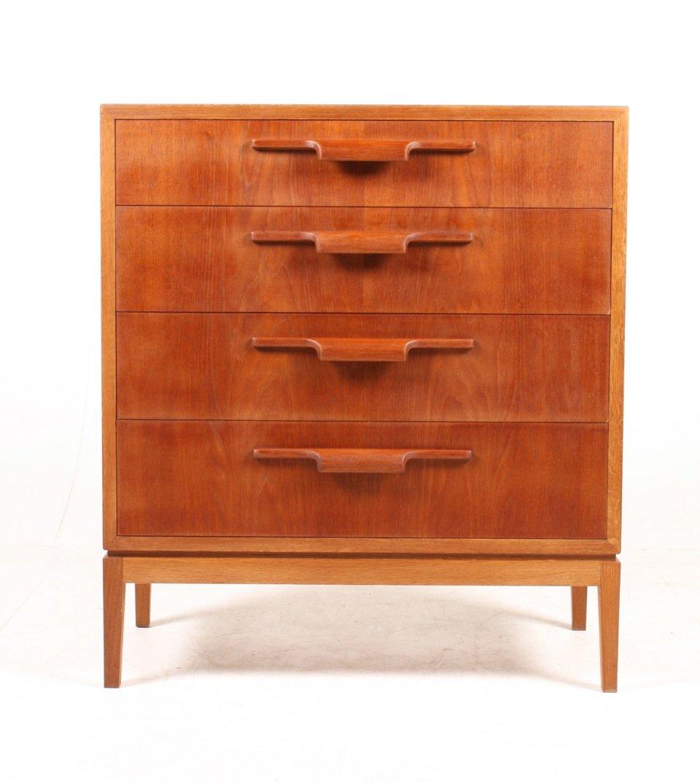 d nische kommode mit teak schubladen 1950er bei pamono kaufen. Black Bedroom Furniture Sets. Home Design Ideas