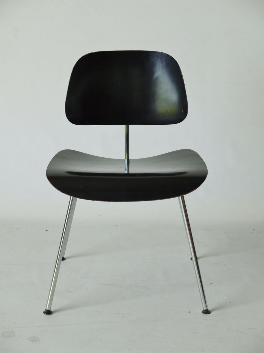 mid century american dcm chair by charles and ray eames for herman miller 1950s for sale at pamono. Black Bedroom Furniture Sets. Home Design Ideas