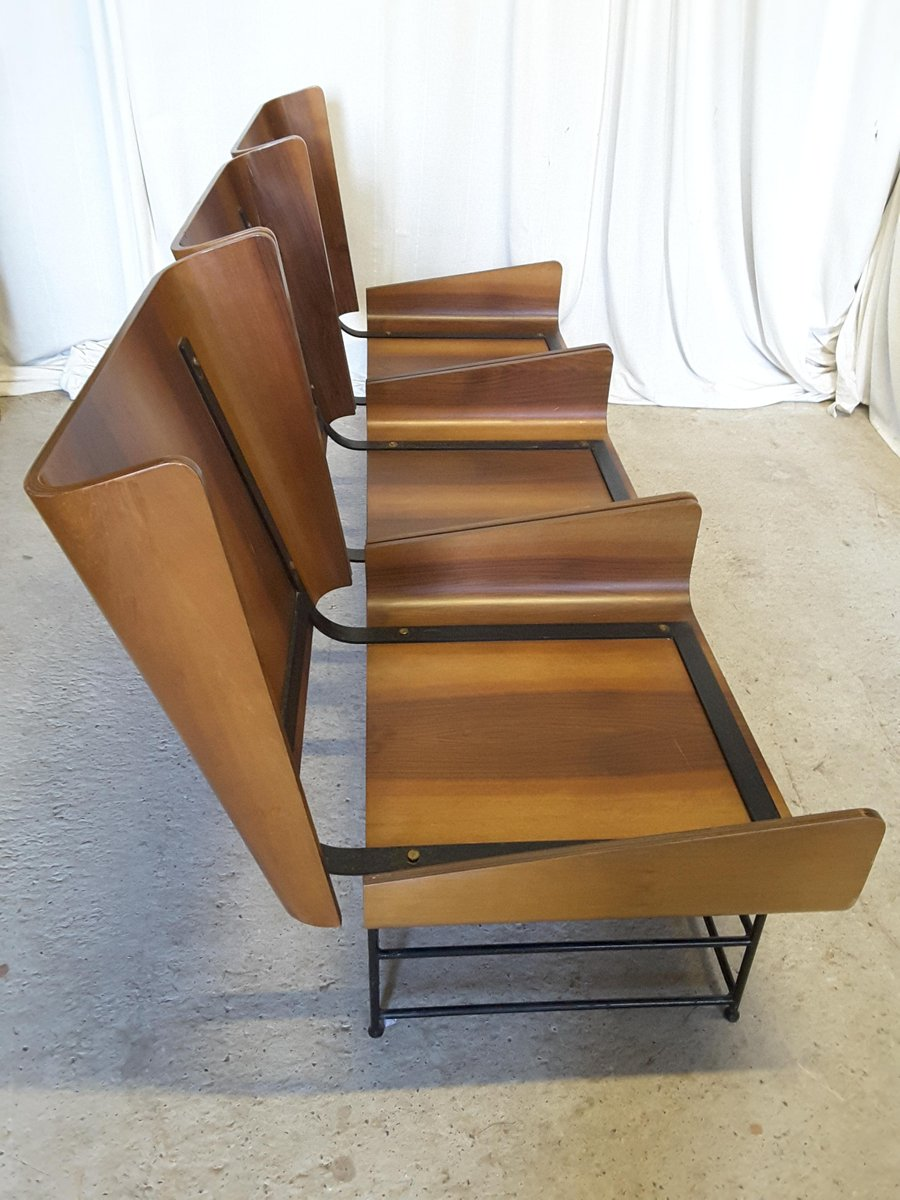 Bent Plywood Chair - Mid century modern bent plywood bench