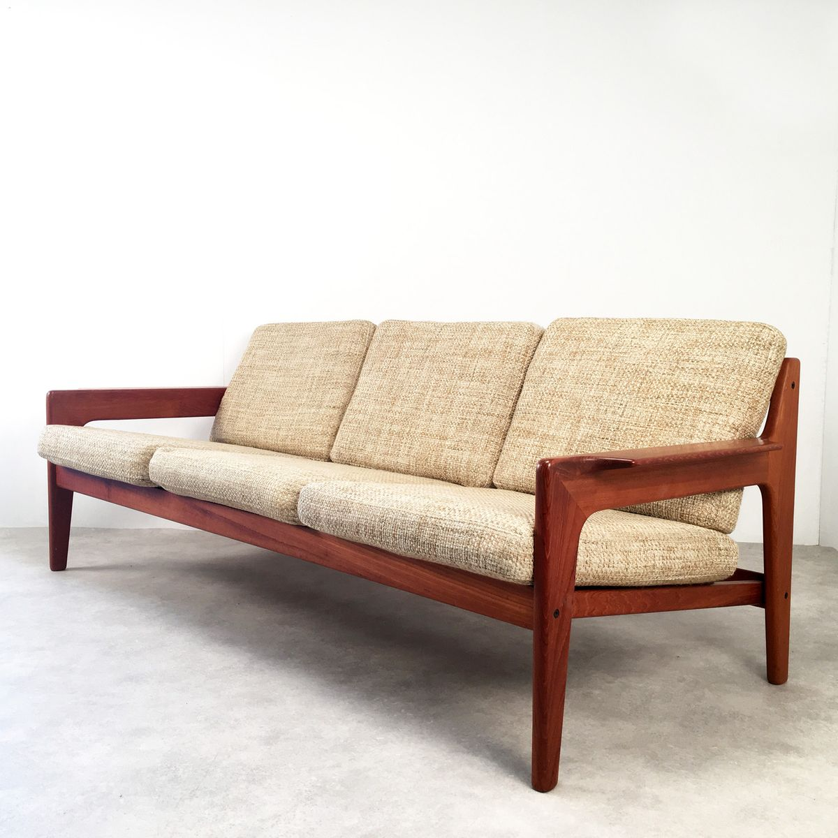 Mid Century Danish Three Seater Sofa By Arne Wahl Iversen For Komfort 1960s