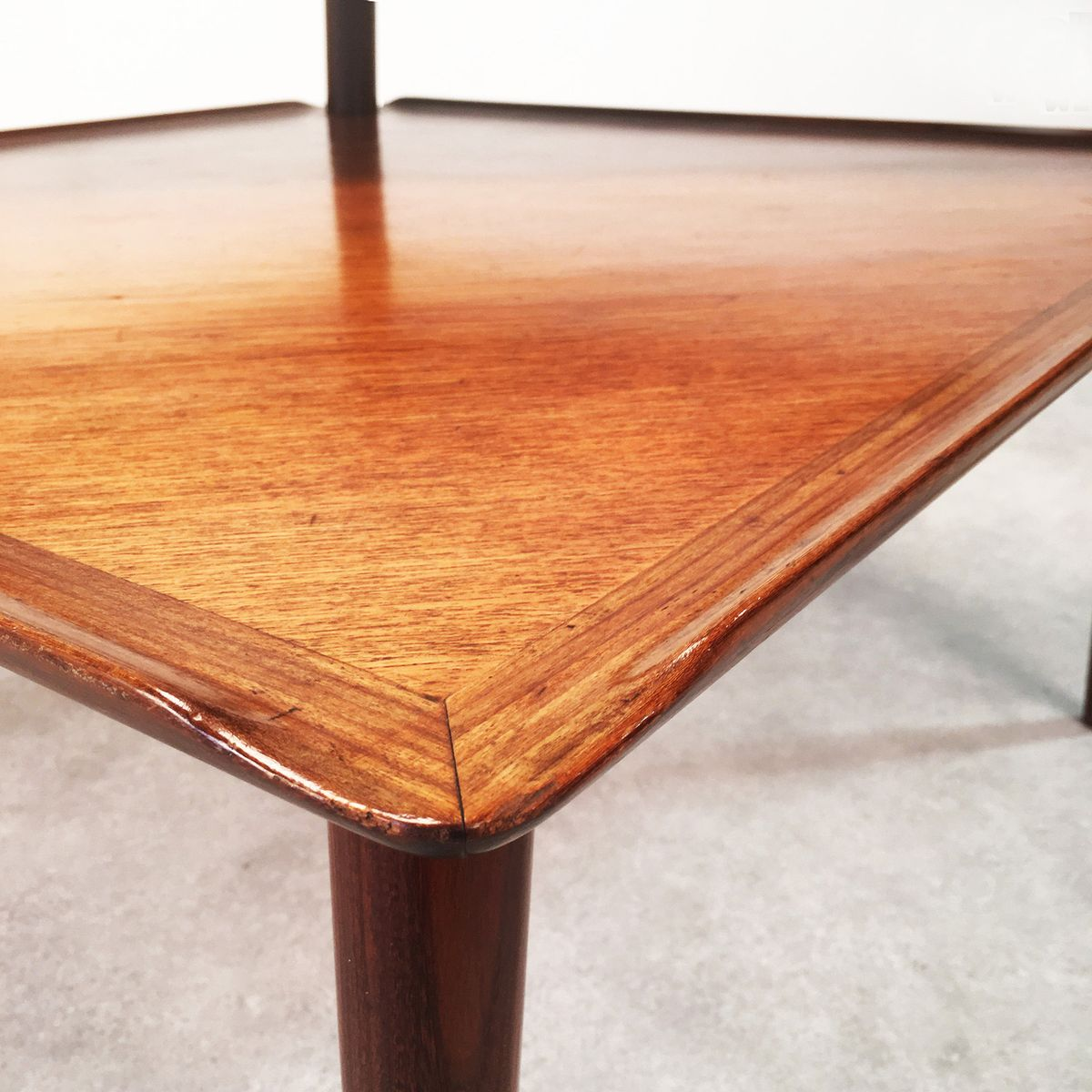 two-tiered teak coffee table, 1950s for sale at pamono