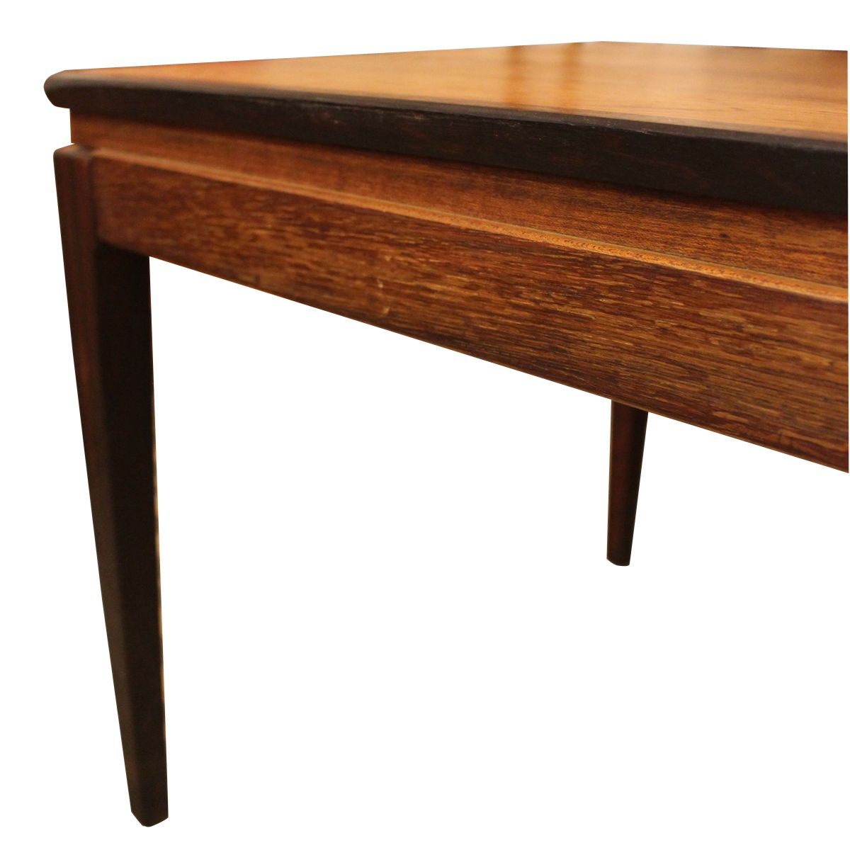 Danish Rosewood Coffee Table With Two Black Lacquered Extensions 1960s For Sale At Pamono