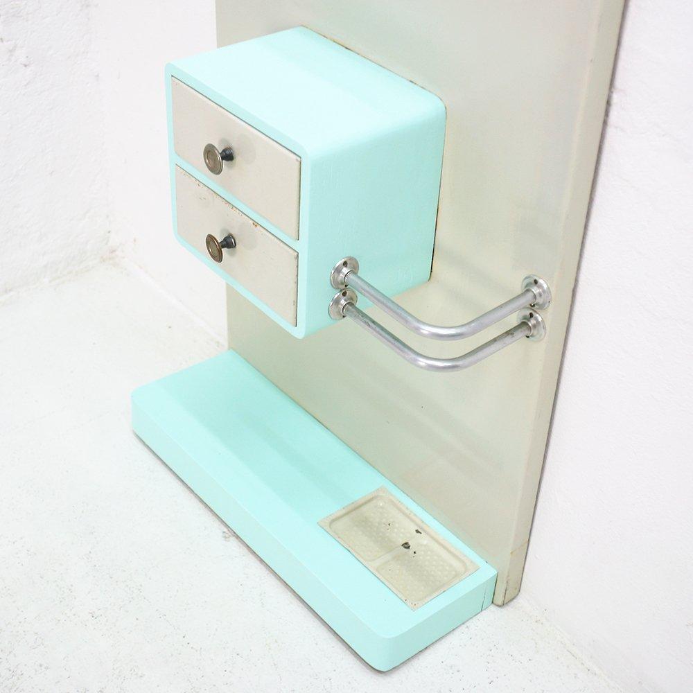 garderobe mit spiegel schubladen 1950er bei pamono kaufen. Black Bedroom Furniture Sets. Home Design Ideas