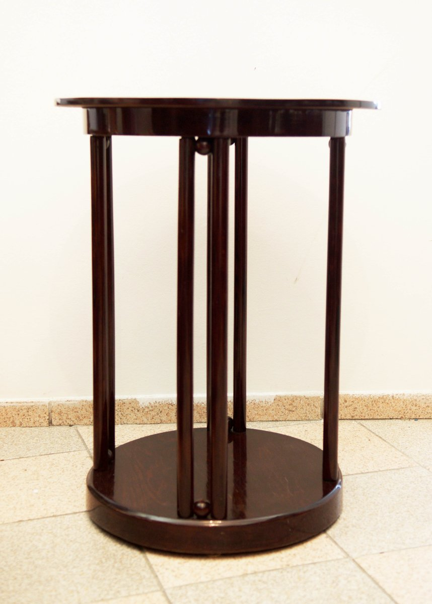 Vienna Secession Round Coffee Or Cocktail Table From Thonet, 1900s
