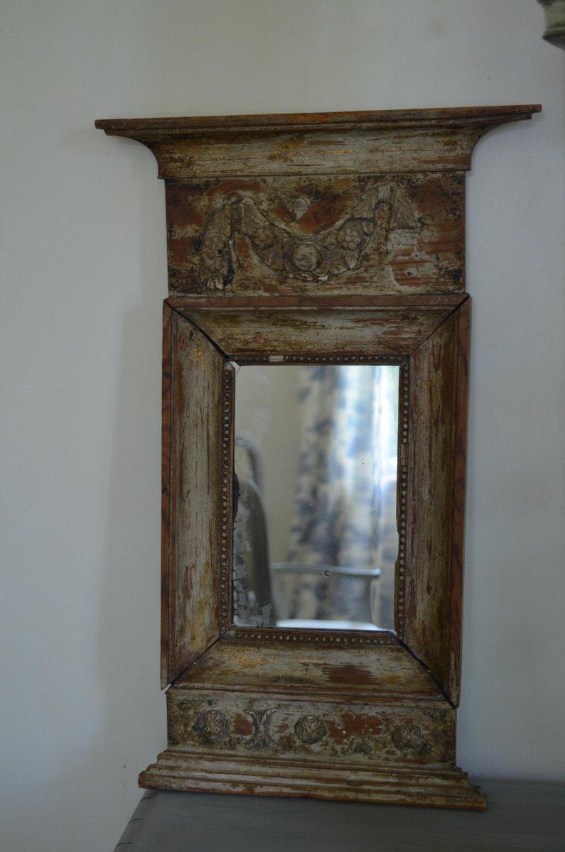 Schwedischer gustavianischer spiegel mit holzrahmen bei for Spiegel holzrahmen