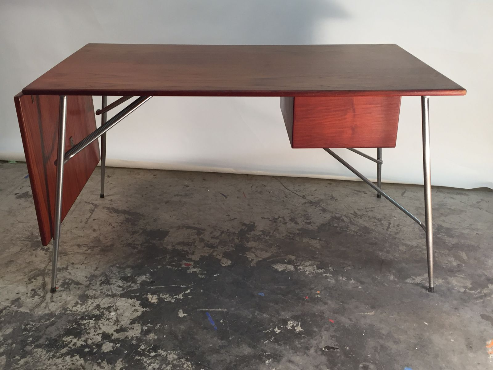 Mid Century Drop Leaf Desk By Borge Mogensen For Soborg Mobelfabrik
