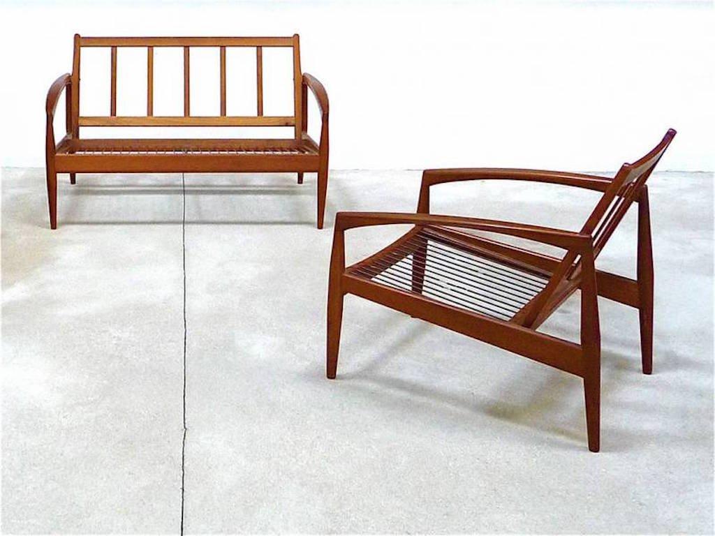 Teak paperknife sofa easy chair by kai kristiansen for magnus olesen for sale at pamono - Kai kristiansen chair ...