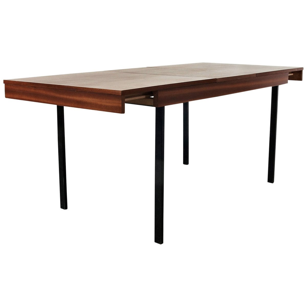 Adjustable extension dining table by pierre guariche for for Extension dining table