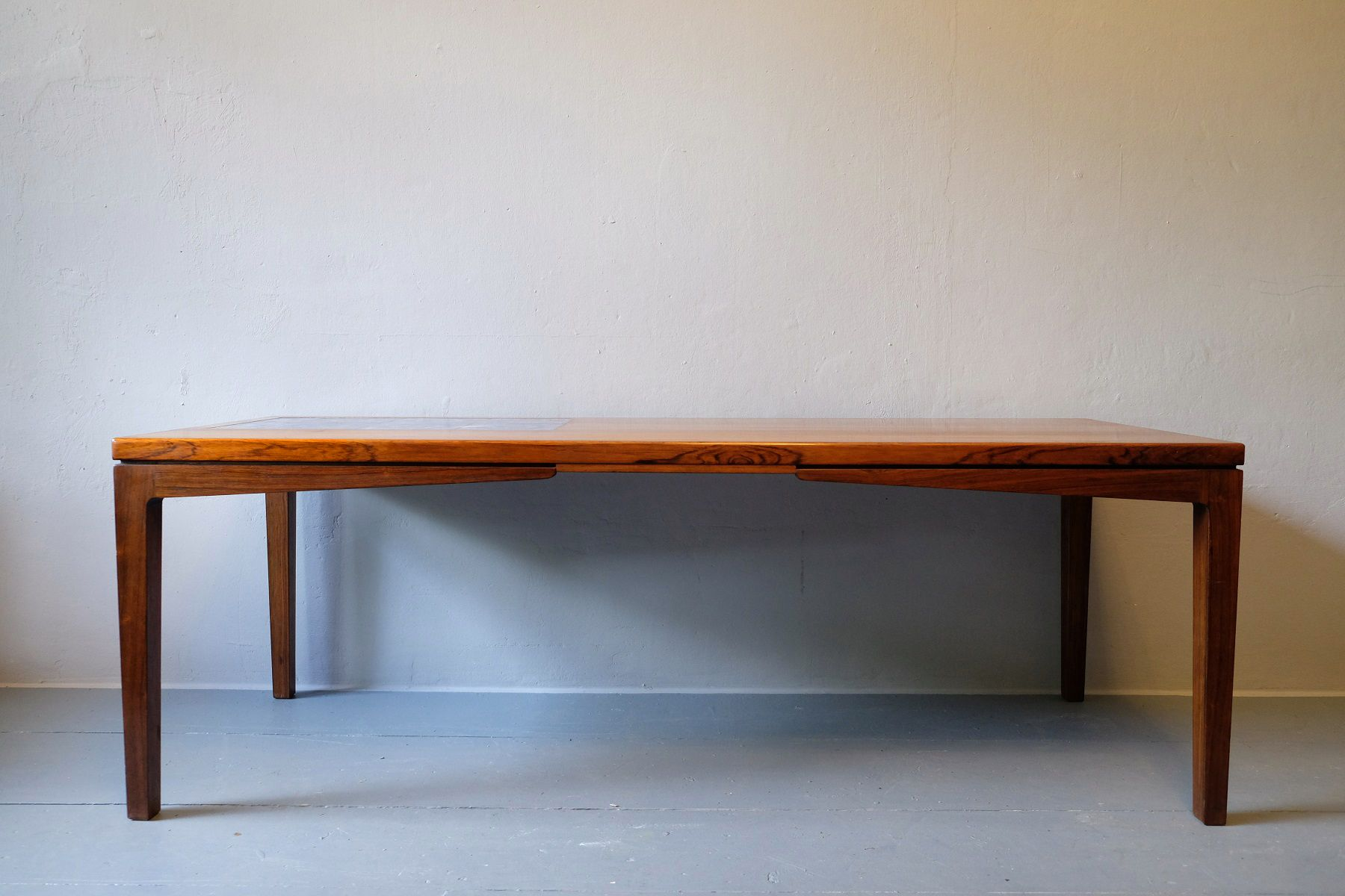 Danish Rosewood Coffee Table with Mosaic Ceramic Tiles 1960s for