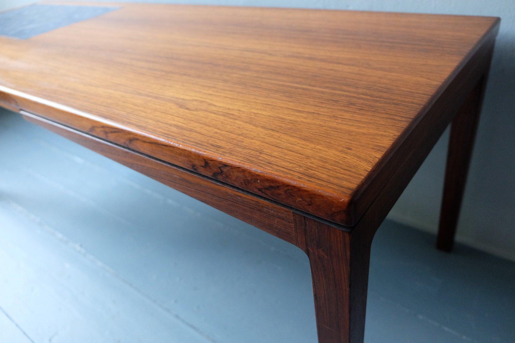 d nischer palisander couchtisch mit mosaik keramik kacheln 1960er bei pamono kaufen. Black Bedroom Furniture Sets. Home Design Ideas