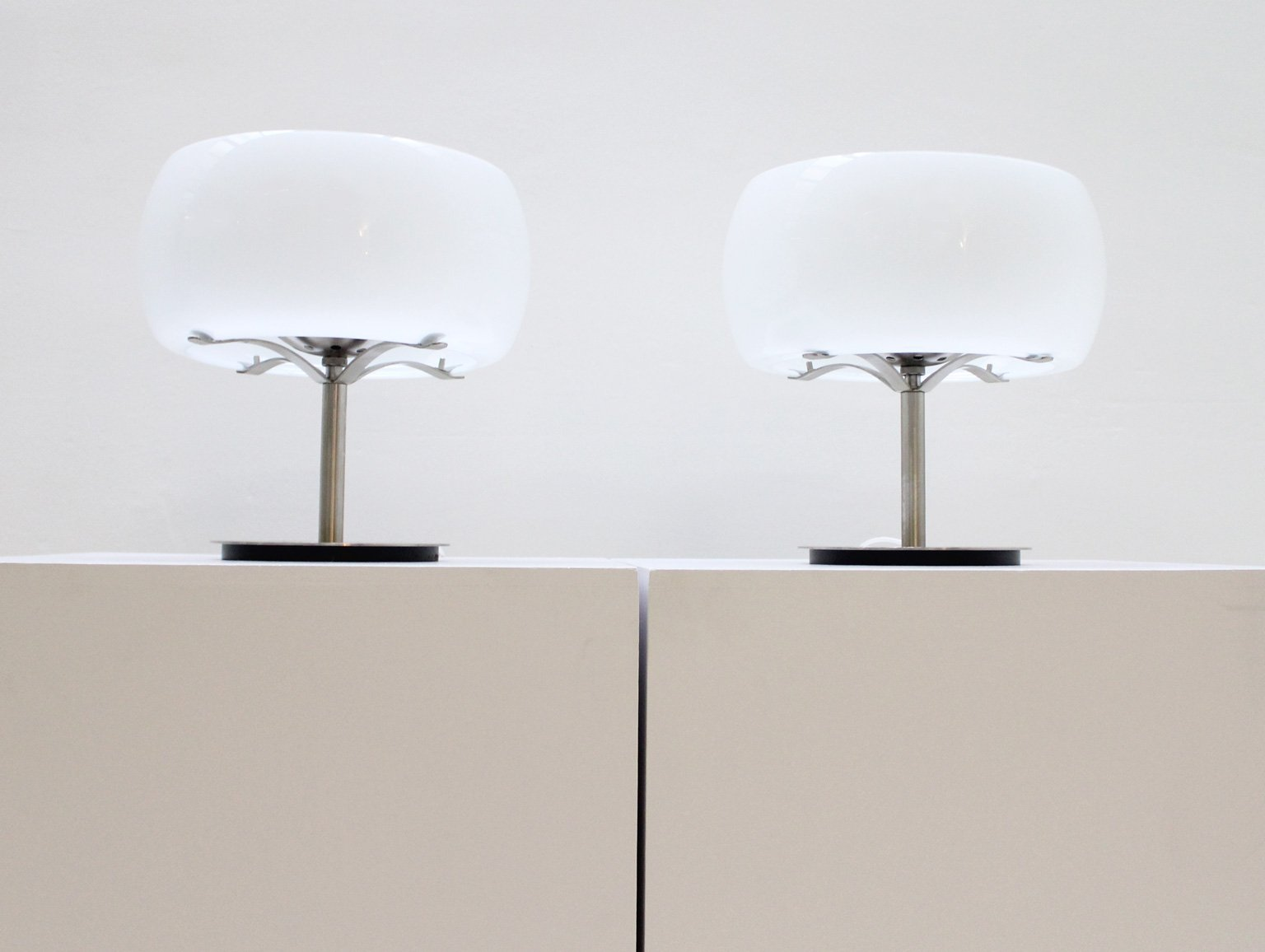 italian erse table lamps by vico magistretti for artemide 1960s set of 2 - Artemide Lighting