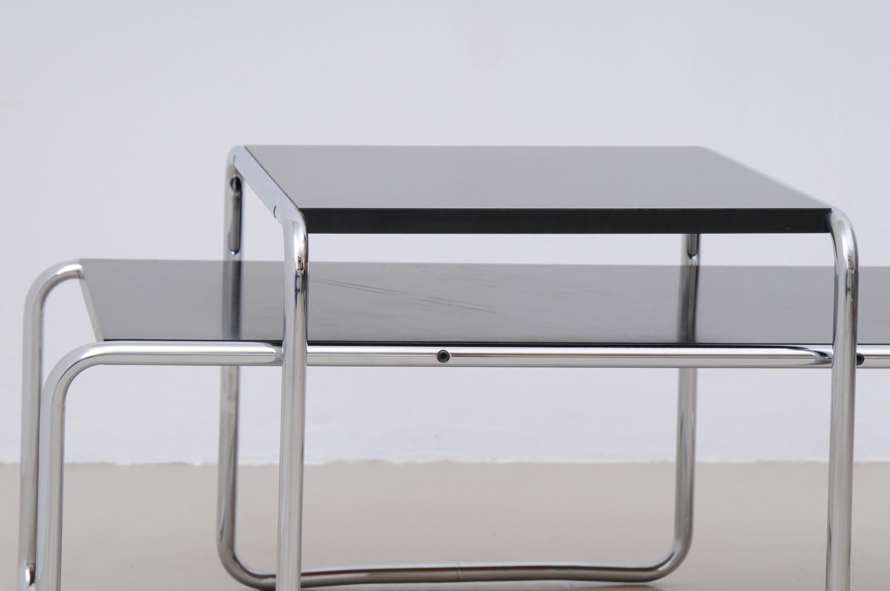 Vintage italian laccio black tables 1 2 by marcel breuer for vintage italian laccio black tables 1 2 by marcel breuer for gavina set of 2 geotapseo Images