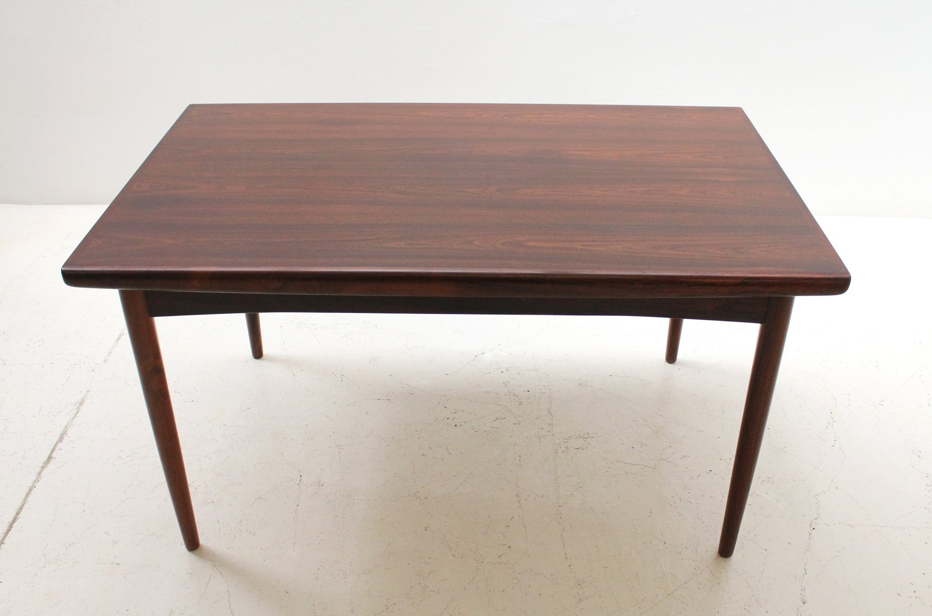 Rosewood Dining Table Mid Century Danish Extendable Rosewood Dining Table From Skovby