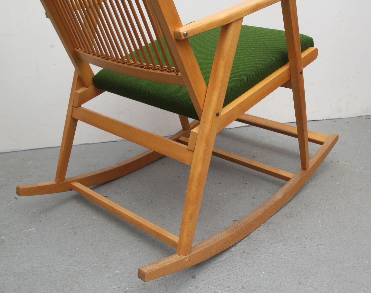 German Bamboo Rocking Chair, 1950s for sale at Pamono