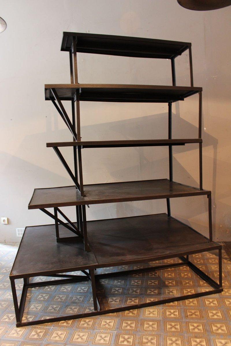industrielles dreiteiliges regal aus metall bei pamono kaufen. Black Bedroom Furniture Sets. Home Design Ideas