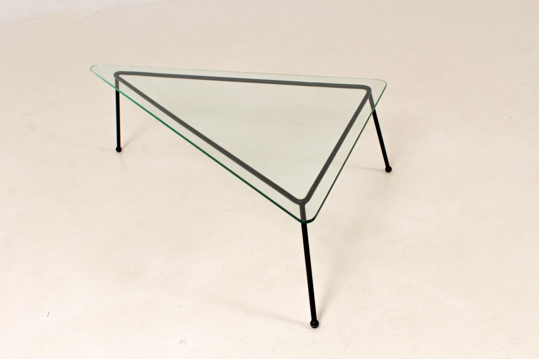 mid-century modern triangular coffee table, 1960s for sale at pamono